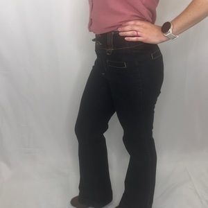 Bisou Bisou retro jeans with cuff bottoms